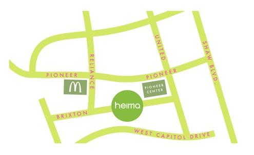 Map to Heima Brixton