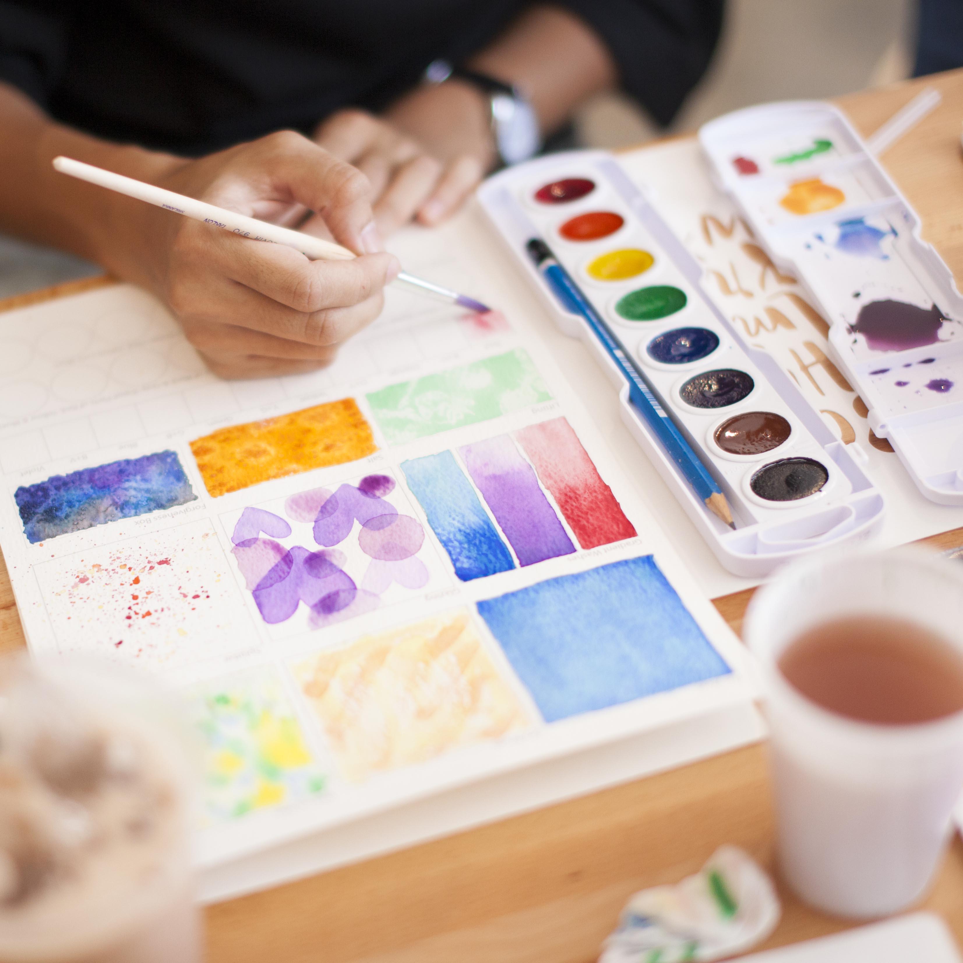 Photos: Singapore Watercolor Lettering Workshops