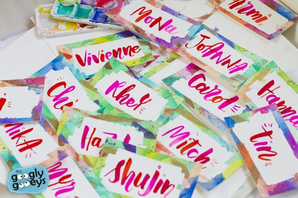 Watercolor & Brush Lettering