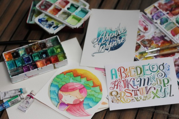 Watercolor Playdate June Digan Abbey Sy