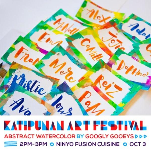 Katipunan Art Fair Abstract Watercolor