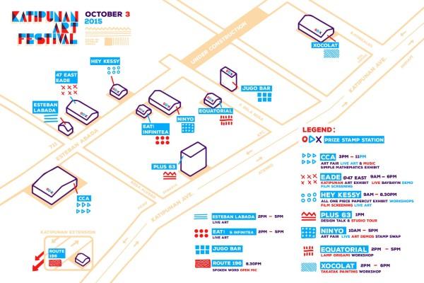 Katipunan Art Festival Map