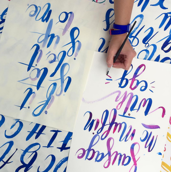 Brush Lettering with Letter J Supply