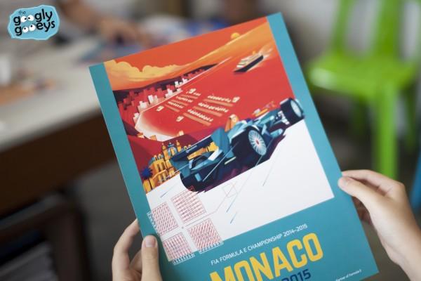 Monaco Poster by Dan Matutina