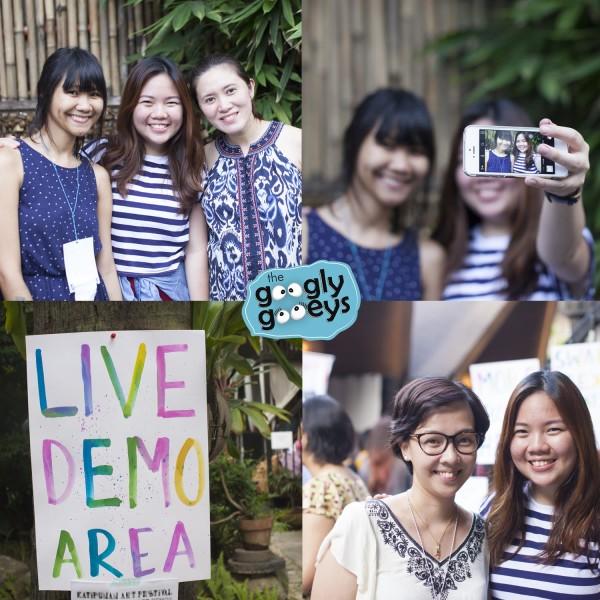Katipunan Art Festival Live Demo Mansy Abesamis Abbey Sy Macy Alcaraz