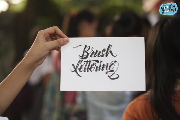 Katipunan Art Festival Brush Lettering Carl Chua
