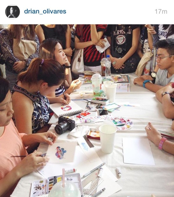 Watercolor Demo Photo by Drian Olivares