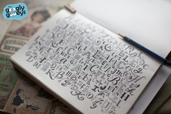 ABC's of Hand Lettering Page