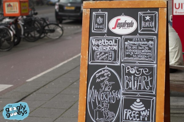 Segafredo Chalkboard Amstredam