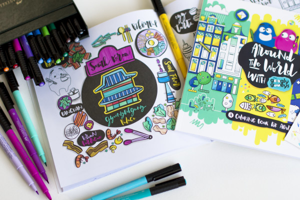 Faber-Castell Pitt Pens & Around the World with the Googly Gooeys