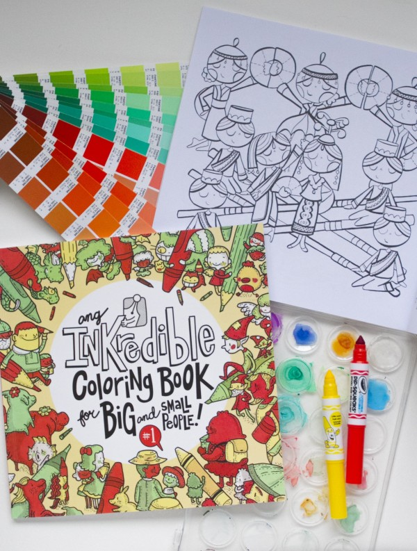 INKredible Coloring Book for Big & Small People