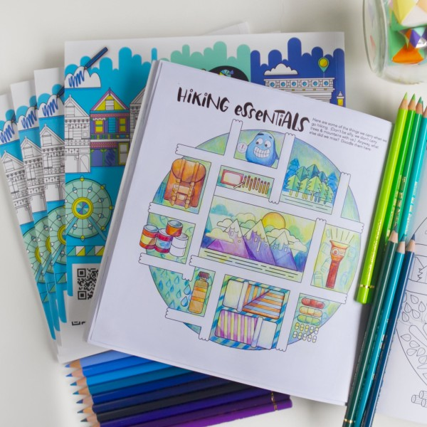 Around the World with the Googly Gooeys Coloring Book Hiking