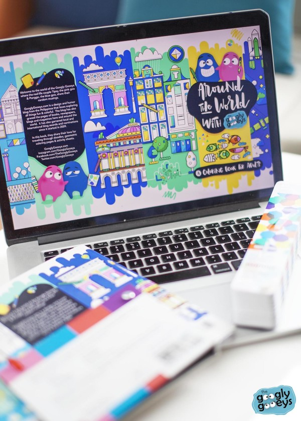 Around the World with the Googly Gooeys Coloring Book & Pantone