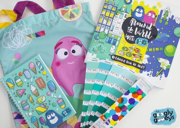 Googly Gooeys Coloring Book Notebook & Tote Bag
