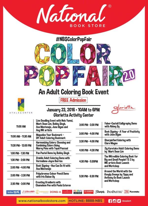 Color Pop Fair Schedule
