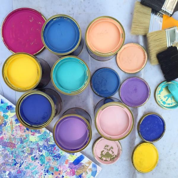 Pastel Outdoor Paint
