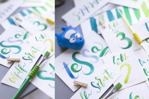 Brush Lettering Name Tags