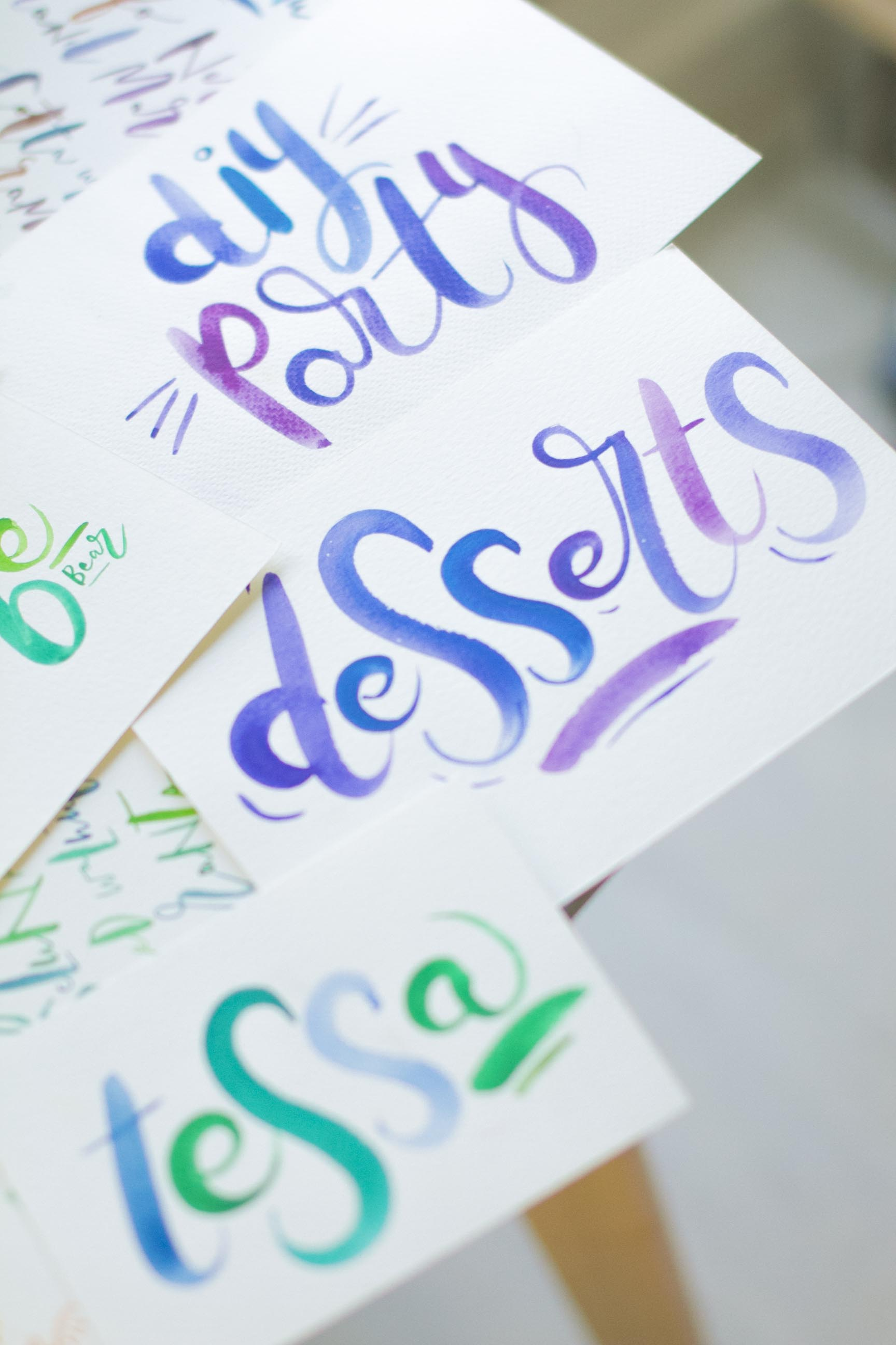 Brush Lettering for DIY Parties