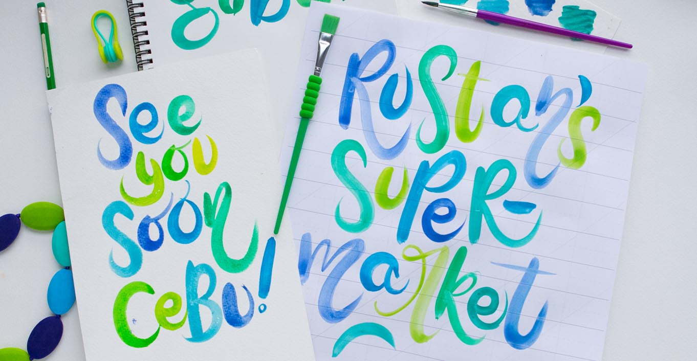 Cebu Brush Lettering Workshop with Rustan's