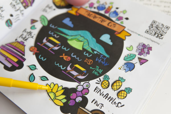 Tagaytay Doodles Pineapples coloring Book