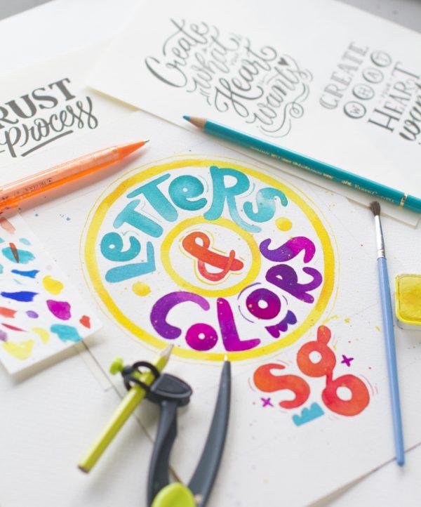 Letters & Colors Poster Singapore