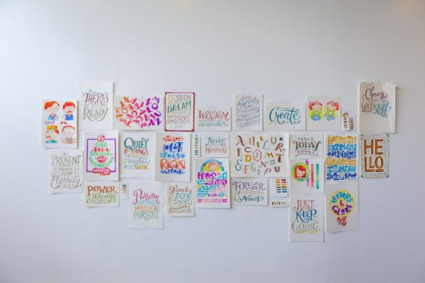 Letters & Colors Wall