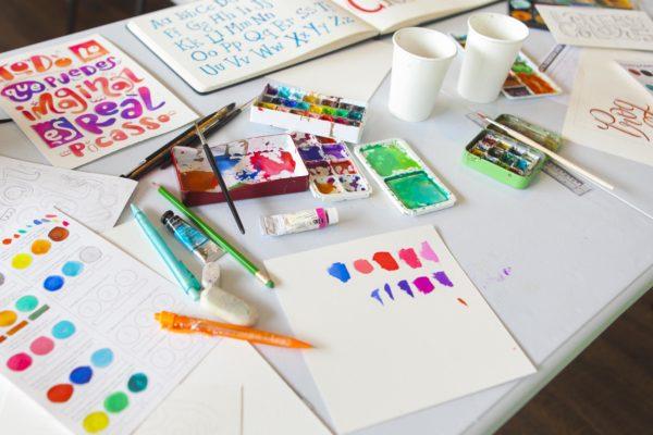 Letters & Colors Workshop Set-up IMG_2604