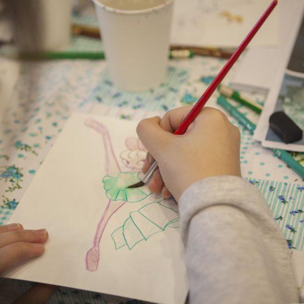 Watercolor Doodles Bunny