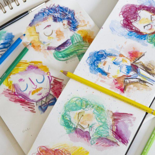 Watercolor Pencil Doodles Faber-Castell Albrecht Durer