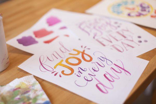 Find Joy Lettering