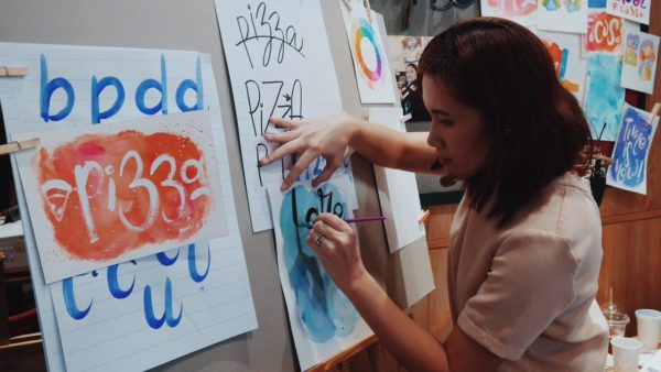 Tippy Go Globe Brush Lettering Workshop