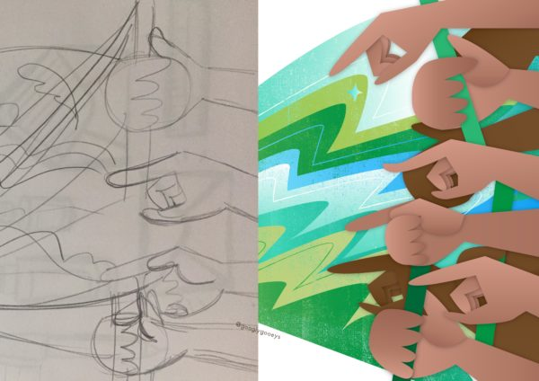Drawing Hands from Sketch to Graphics