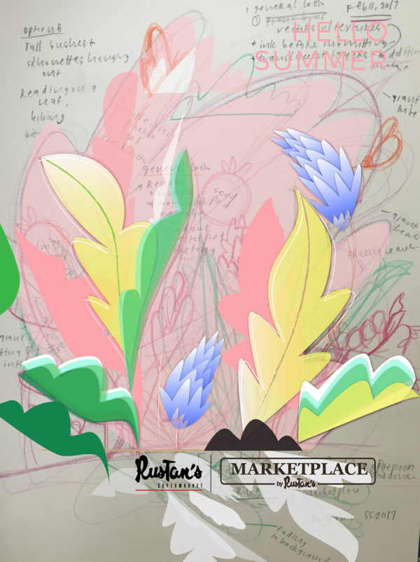 Rustan's Poster Design Early Stages
