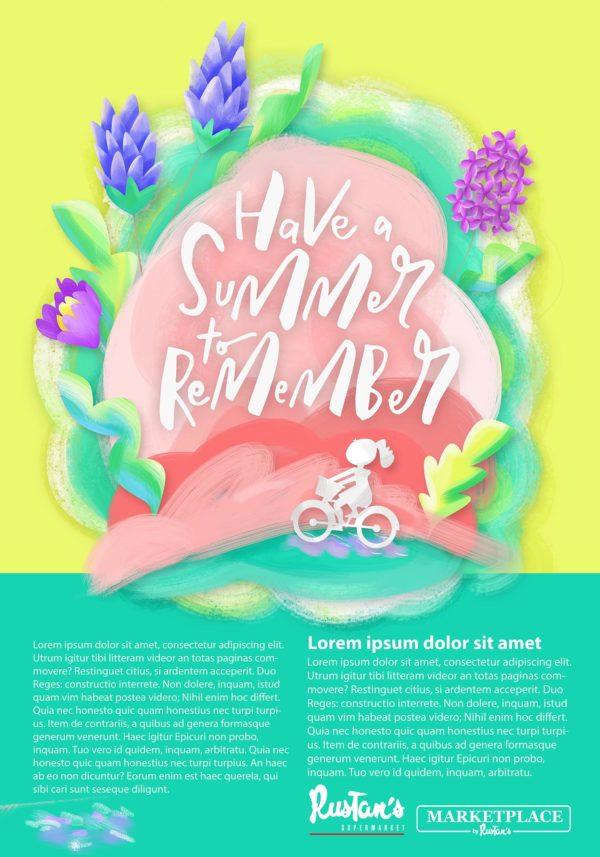 Rustan's Summer Poster