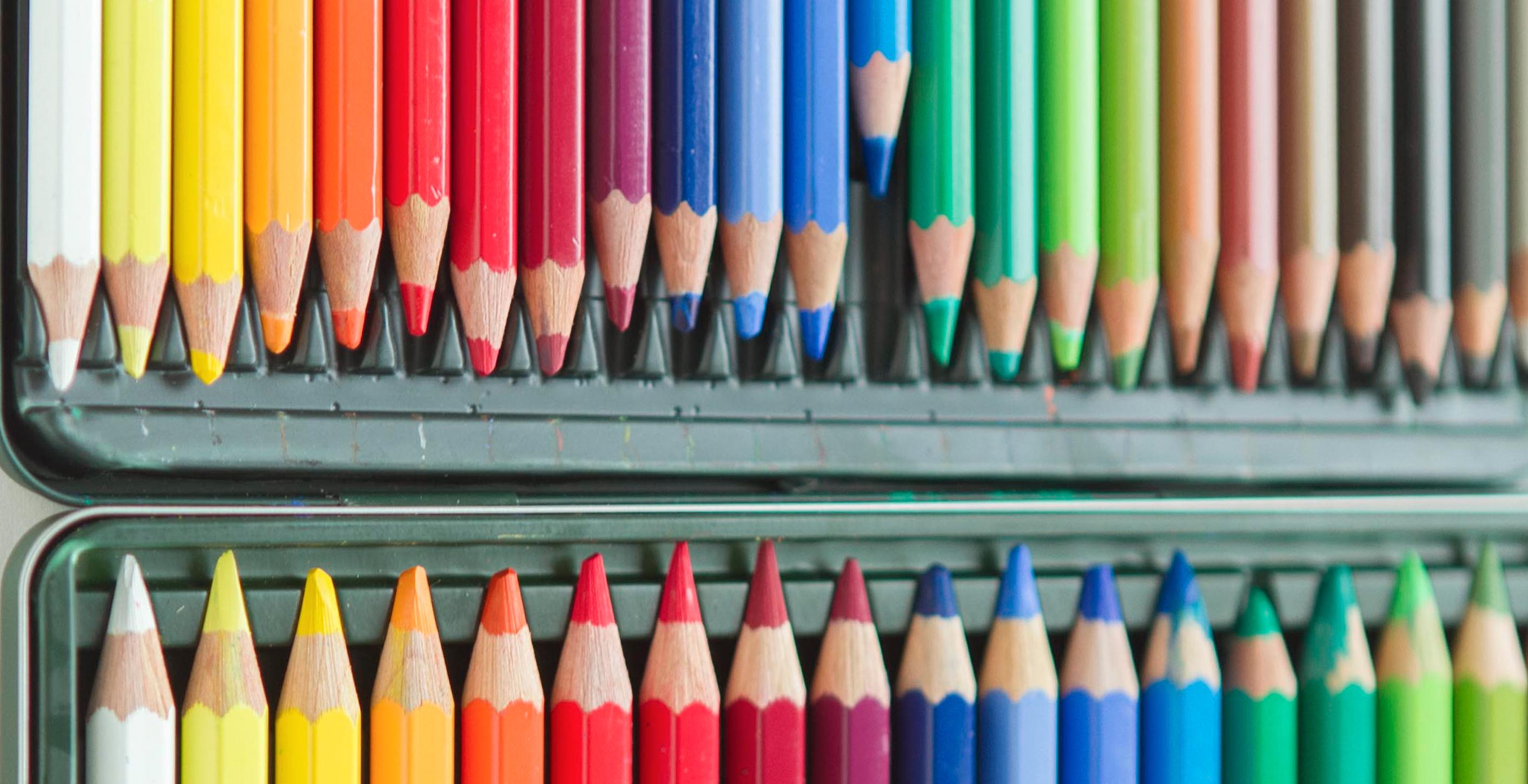 Summer Art Buffet with Watercolour Pencils