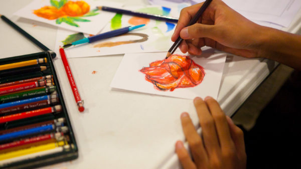 Painting Flowers Workshops Philippines Faber-Castell