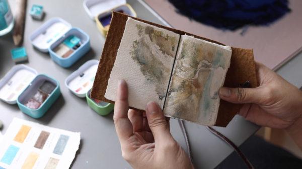 Handmade Watercolor Sketch Book