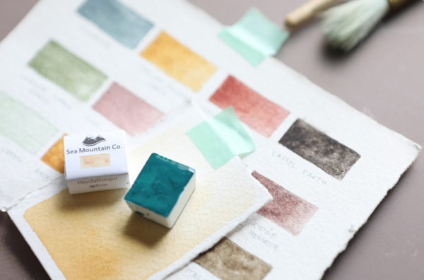 Handmade Watercolor Swatches & Final Product